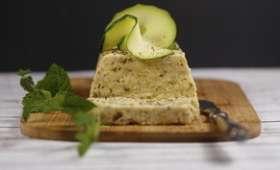 Terrine de courgettes au fromage blanc à la menthe
