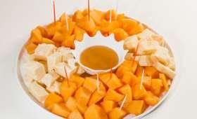 Melon et grana au miel