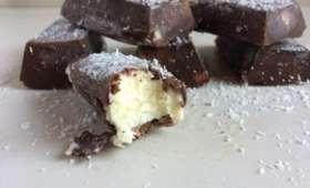 Petites barres glacées chocolatées façon Bounty