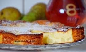 Gâteau ricotta et poires sans farine et sans beurre