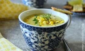 Soupe de maïs cremeuse