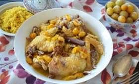 Tajine de poulet mirabelles et miel