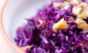 Salade de chou rouge aux noix