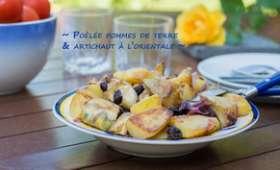 Poêlée de pommes de terre et artichauts à l'orientale