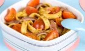Salade de Tagliatelles au Pesto, aux Anchois et au Citron