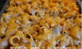 Gratin de pâtes à la Bolognaise
