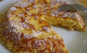 Gâteau aux pommes cuit à la poêle