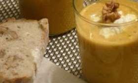 Velouté de potiron à la mangue