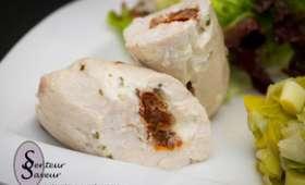 Ballotine de poulet farci au Boursin et aux tomates séchées