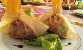 Croustillants aux pommes caramélisées et Fourme d'Ambert