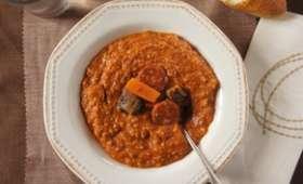 Soupe au chorizo et aux châtaignes