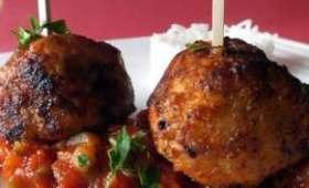 Boulettes de poulet curcuma-tomates