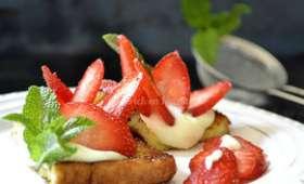 Tartines au mascarpone et fraises