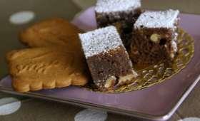 Brownie aux noix fraîches et spéculoos
