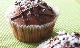 Muffins chocolat-noix de coco