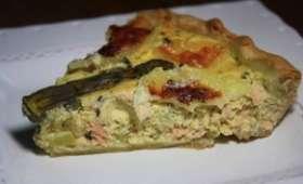Tarte saumon & asperges vertes