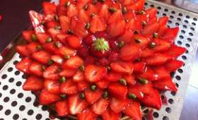 Tarte aux fraises et ses pistaches