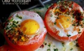 """L'oeuf """"co-coque"""" de tomate au thon et paprika"""