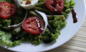 Salade de Haricots verts, Tomates et Radis noir