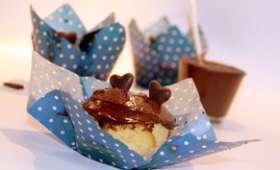 Muffins au yaourt et pâte à tartiner maison