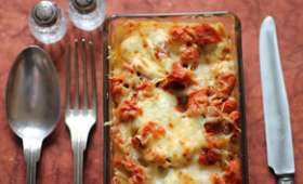 Lasagnes veggie aux carottes marinées au miel et raisins ...