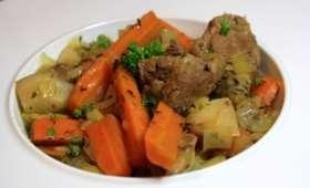 Sauté d'agneau aux legumes