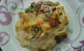 Lasagnes crémeuses aux champignons