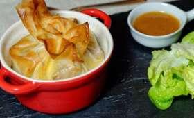 Croustillant d'andouille de bretagne, sauce au pommeau