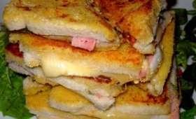 Croque raclette pané