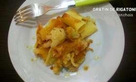 Gratin de rigatoni au chou-fleur et aux anchois