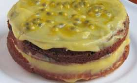 Layer cake à la mandarine et au fruit de la passion