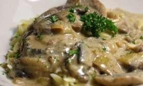 Escalope de veau au gorgonzola