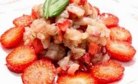 Tartare de bar aux fraises