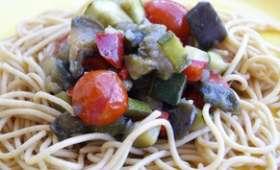 Spaghettis aux légumes du soleil