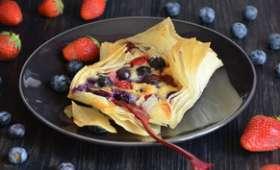 Feuilletés frangipane et fruits rouges