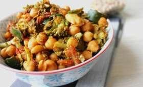 Méli mélo de légumes et pois chiches