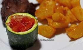 Courgettes farcies à la tomate et aux échalotes