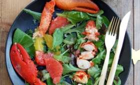 Salade folle de homard aux agrumes