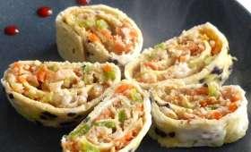 Roulé d'omelette à la crevette