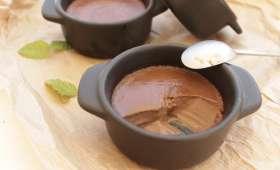 Crème chocolat menthe au lait de soja