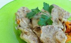 Ravioles de courges, épeautre & champignons