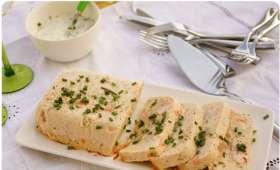 Terrine de saumon, st Jacques et crevettes roses