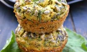 Muffins aux fanes de radis et au chèvre