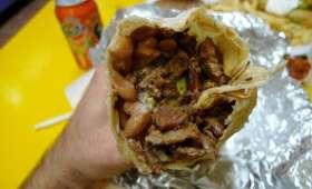 Wrap - burrito aux crevettes épicées
