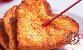 Cœurs de pain perdu à l'eau de rose