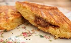 Croques brioche - banane - toblerone