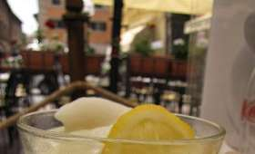 Punch à la romaine, sorbet oranges et citrons, au rhum