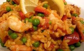 Salade riz comme une paella, à la plancha (Espagne)