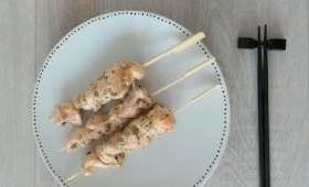 Brochettes de poulet façon terriyaki