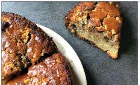 Gâteau Maizena, sucre perlé et chocolat